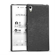 Brushed Silikonhülle für Sony Xperia Z5 Schutzhülle Cover im gebürstetem Design Metallic Look