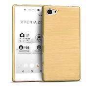 Brushed Silikonhülle für Sony Xperia Z5 Compact Schutzhülle Cover im gebürstetem Design Metallic Look