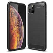 TPU Hülle für Apple iPhone 11 Pro Max Handy Schutzhülle Carbon Optik Schutz Case