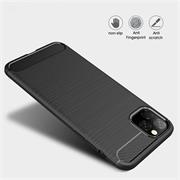 TPU Hülle für Apple iPhone 11 Pro Handy Schutzhülle Carbon Optik Schutz Case