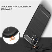 TPU Hülle für Apple iPhone 12 Mini Handy Schutzhülle Carbon Optik Schutz Case
