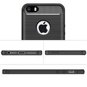 Handy Hülle für Apple iPhone 5 / 5S / SE Backcover Case Carbon Design