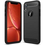 Hülle Carbon für Apple iPhone XR Schutzhülle Handy Case Hybrid Cover