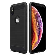 Hülle Carbon für Apple iPhone XS Max Schutzhülle Handy Case Hybrid Cover