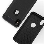 TPU Hülle für Apple iPhone XS Max Handy Schutzhülle Carbon Optik Schutz Case