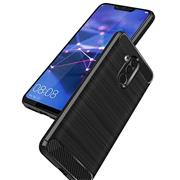Handy Hülle für Huawei Mate 20 Lite Backcover Case im Carbon Design