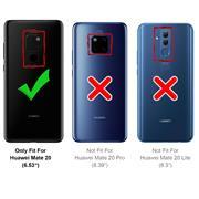 Hülle Carbon für Huawei Mate 20 Schutzhülle Handy Case Hybrid Cover