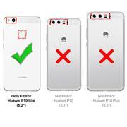 Hülle Carbon für Huawei P10 Lite Schutzhülle Handy Case Hybrid Cover