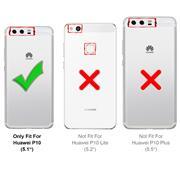 TPU Hülle für Huawei P10 Handy Schutzhülle Carbon Optik Schutz Case