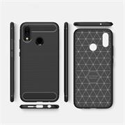 Hülle Carbon für Huawei P20 Lite Schutzhülle Handy Case Hybrid Cover