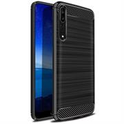 Handy Hülle für Huawei P20 Pro Backcover Case im Carbon Design