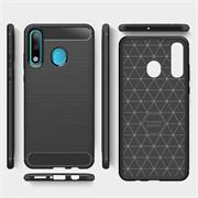 Hülle Carbon für Huawei P30 Lite Schutzhülle Handy Case Hybrid Cover