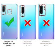 TPU Hülle für Huawei P30 Lite Handy Schutzhülle Carbon Optik Schutz Case