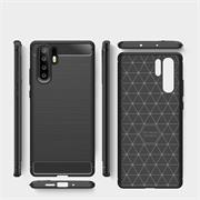 Hülle Carbon für Huawei P30 Pro Schutzhülle Handy Case Hybrid Cover