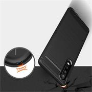 Hülle Carbon für Huawei P30 Schutzhülle Handy Case Hybrid Cover