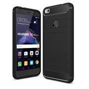 Handy Hülle für Huawei P8 Lite 2017 Backcover Case im Carbon Design
