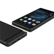 Hülle Carbon für Huawei P9 Lite Schutzhülle Handy Case Hybrid Cover