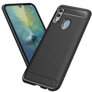 Handy Hülle für Huawei P Smart 2019 Backcover Case im Carbon Design