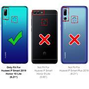 Hülle Carbon für Huawei P Smart 2019 Schutzhülle Handy Case Hybrid Cover