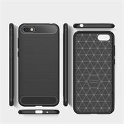 Handy Hülle für Huawei Y5 2018 Backcover Case im Carbon Design