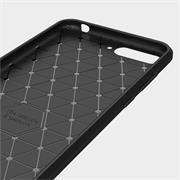 Hülle Carbon für Huawei Y6 2018 Schutzhülle Handy Case Hybrid Cover