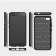 Handy Hülle für Huawei Y6 Pro 2017 Backcover Case im Carbon Design