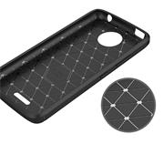 TPU Hülle für Motorola Moto C Plus Handy Schutzhülle Carbon Optik Schutz Case