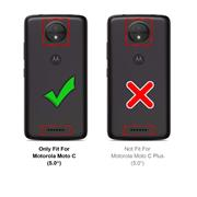 TPU Hülle für Motorola Moto C Handy Schutzhülle Carbon Optik Schutz Case