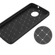 Handy Hülle für Motorola Moto E4 Plus Backcover Case im Carbon Design