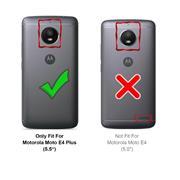 Hülle Carbon für Motorola Moto E4 Plus Schutzhülle Handy Case Hybrid Cover
