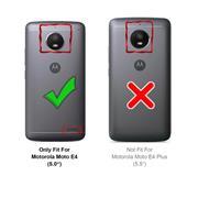Hülle Carbon für Motorola Moto E4 Schutzhülle Handy Case Hybrid Cover