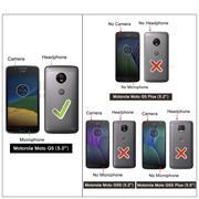 Hülle Carbon für Motorola Moto G5 Schutzhülle Handy Case Hybrid Cover