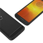 Handy Hülle für Motorola Moto G6 Play Backcover Case im Carbon Design