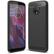 Handy Hülle für Motorola Moto G6 Backcover Case im Carbon Design