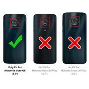 Hülle Carbon für Motorola Moto G6 Schutzhülle Handy Case Hybrid Cover