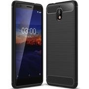 Handy Hülle für Nokia 3.1 Backcover Case im Carbon Design