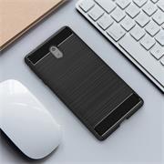 Hülle Carbon für Nokia 3 Schutzhülle Handy Case Hybrid Cover