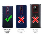 Hülle Carbon für Nokia 5.1 Schutzhülle Handy Case Hybrid Cover