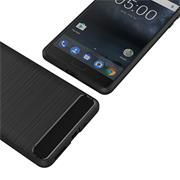 Handy Hülle für Nokia 5 Backcover Case im Carbon Design