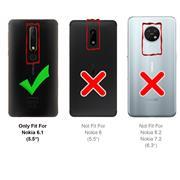 Hülle Carbon für Nokia 6.1 Schutzhülle Handy Case Hybrid Cover