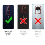 TPU Hülle für Nokia 7.1 Handy Schutzhülle Carbon Optik Schutz Case
