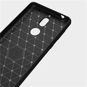 Handy Hülle für Nokia 7 Backcover Case im Carbon Design