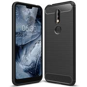 Handy Hülle für Nokia 8.1 Backcover Case im Carbon Design