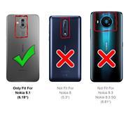 Hülle Carbon für Nokia 8.1 Schutzhülle Handy Case Hybrid Cover
