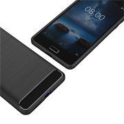 Handy Hülle für Nokia 8 Backcover Case im Carbon Design