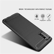 TPU Hülle für Samsung Galaxy A02s Handy Schutzhülle Carbon Optik Schutz Case