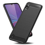 Handy Hülle für Samsung Galaxy A10 Backcover Case im Carbon Design