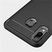 Handy Hülle für Samsung Galaxy A20e Backcover Case im Carbon Design