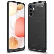 TPU Hülle für Samsung Galaxy A32 5G Handy Schutzhülle Carbon Optik Schutz Case