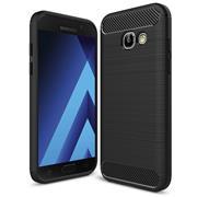 Handy Hülle für Samsung Galaxy A3 2017 Backcover Case im Carbon Design